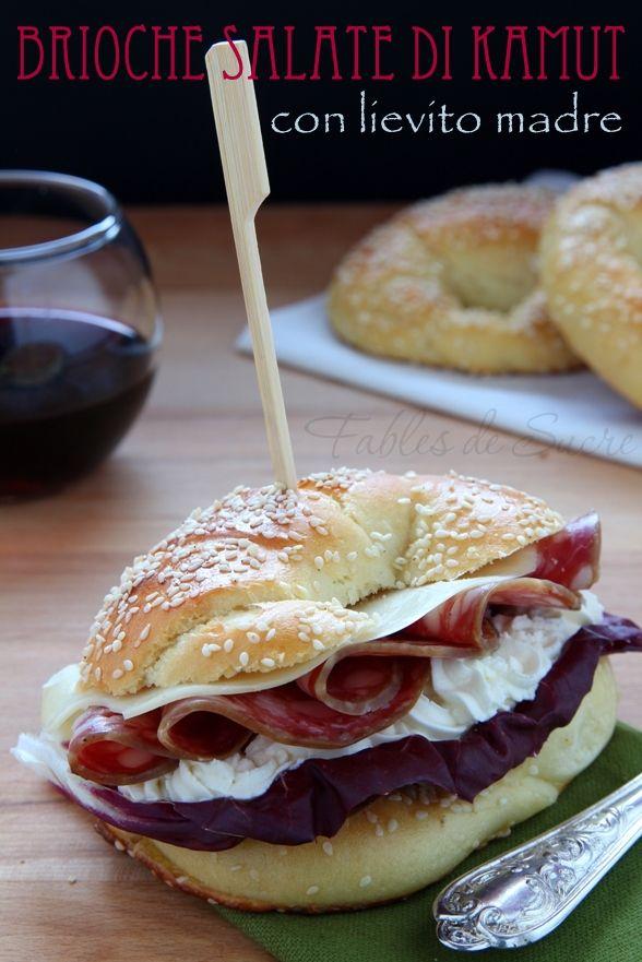 Brioche+salate+di+kamut+con+lievito+madre