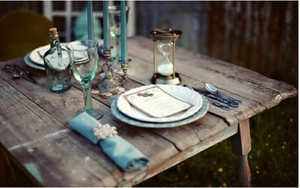 table set for two...