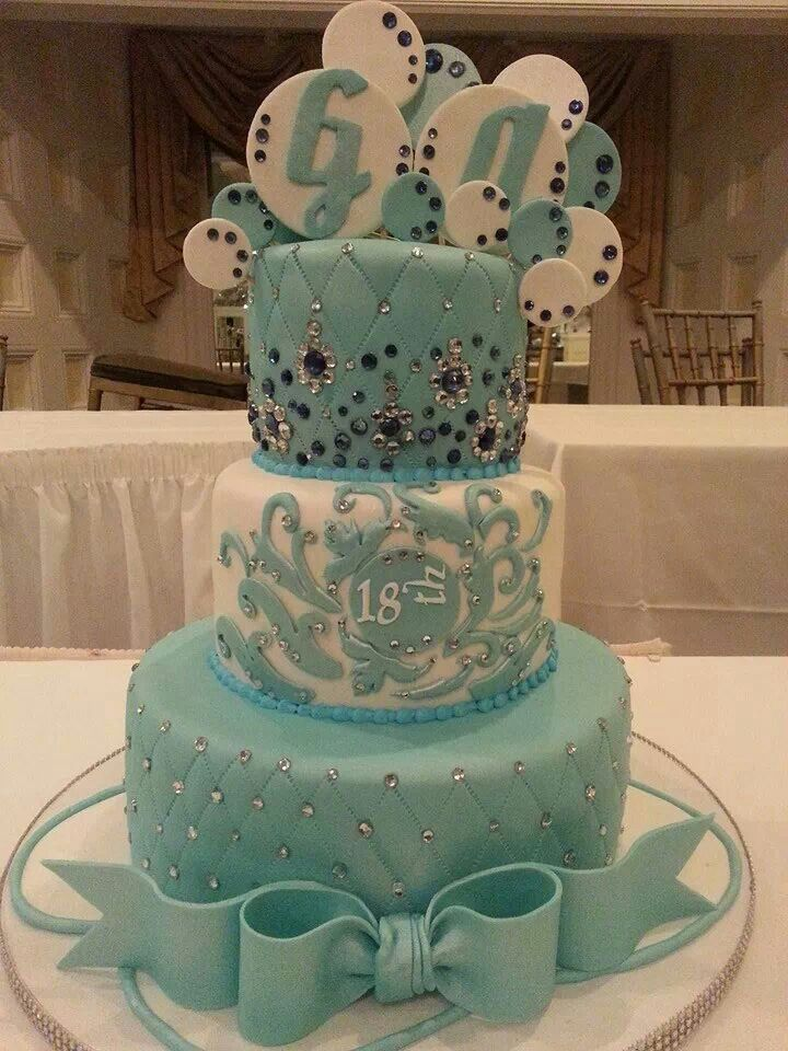18th birthday cake, design based on invitation and girl's ...