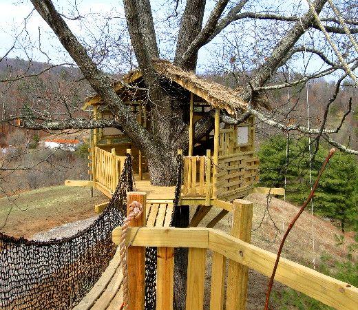 65 best tree houses & ziplines images on pinterest | treehouses