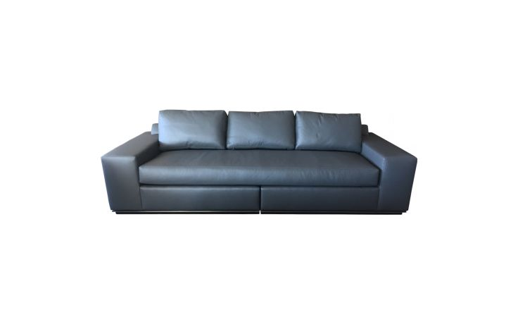 A. Rudin Contemporary Leather Sofa Front