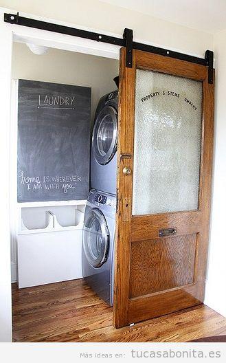 ideas para decorar y organizar lavaderos pequeños 3