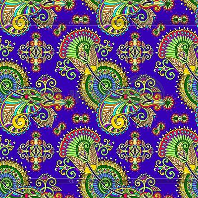 Дро богато бесшовных цветок Пейсли дизайн | Векторный клипарт | ID 3938149