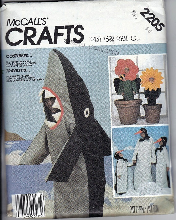 Penguin Costume Sewing Pattern Meningrey