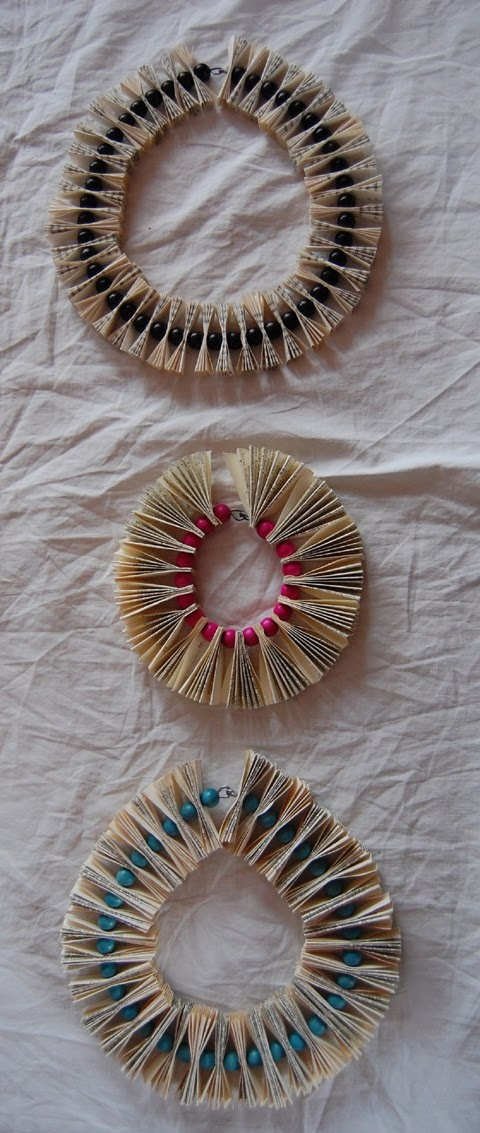 made of books.... could be smaller version jewelry