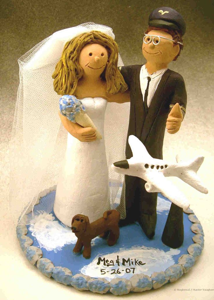 Pilot S Wedding Cake Topper One Day In 2019 Wedding