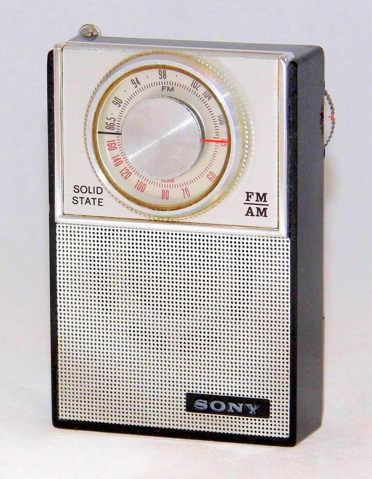 vintage sony transistor radio model 2f 23w fm am bands. Black Bedroom Furniture Sets. Home Design Ideas
