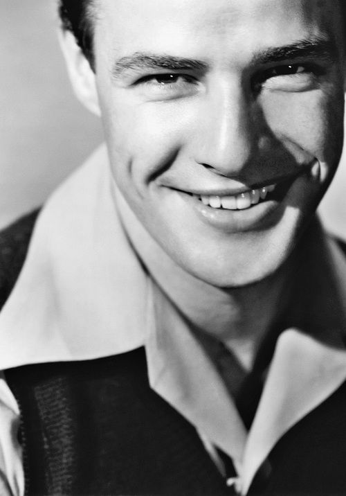 Marlon Brando, look at his killer smile!!!!                                                                                                                                                                                 More