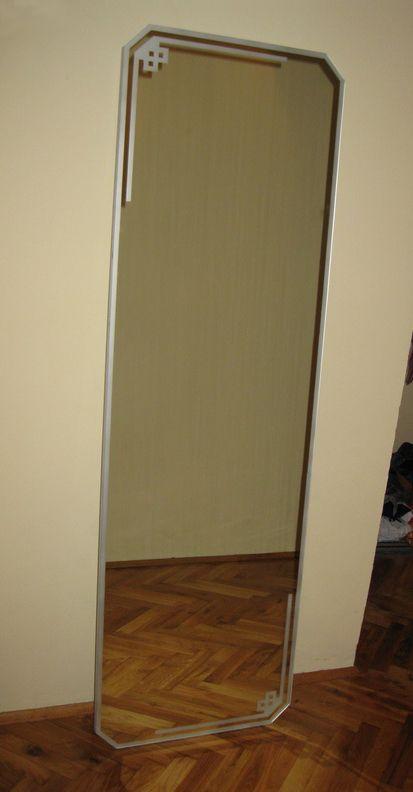 Sansblasted mirror