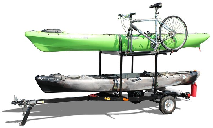 Multi-Sport Rack Trailer for Kayaks, Sups, Canoes, & Bicycles #KayakAccessories