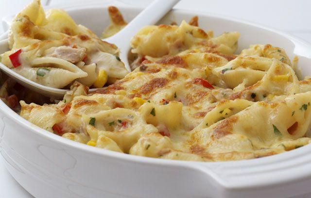 tuna and pasta bake (mushroom cream soup)