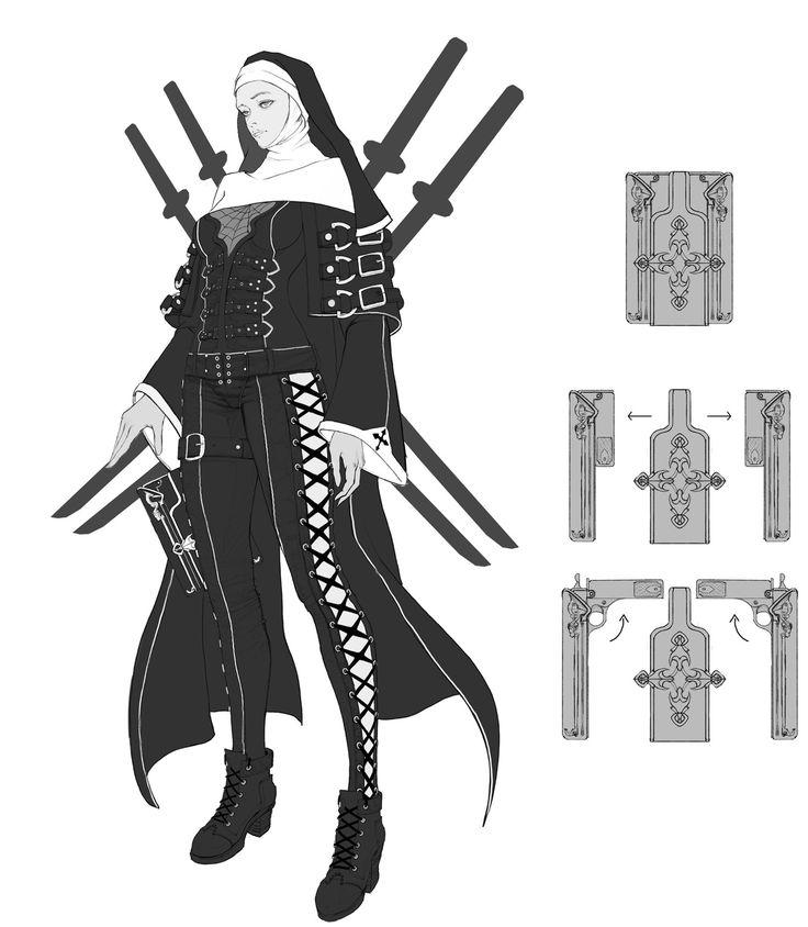 Nun knight, 도경 이 on ArtStation at https://www.artstation.com/artwork/v09ld