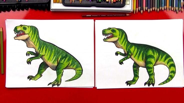Hoe maak je een realistische T-Rex (Art Clubleden) Teken