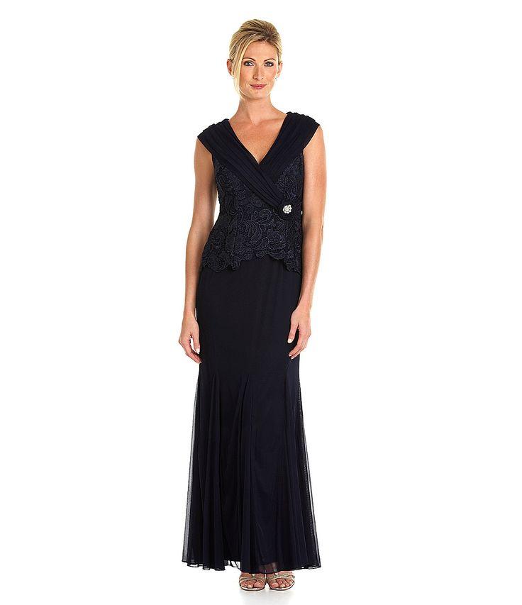 Patra Venice Lace-Bodice Portrait Dress