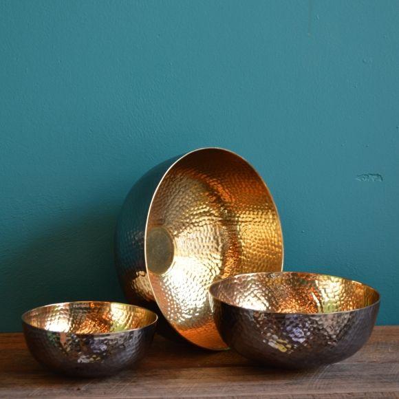 Copenhagen low bowl in black/gold