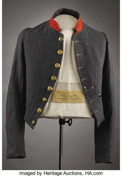 Military & Patriotic:Civil War, Stonewall Jackson's Courier, The Shell Jacket of Private BenjaminS. Pendleton - Worn at the Surrender at Appomattox This is...(Total: 4 )