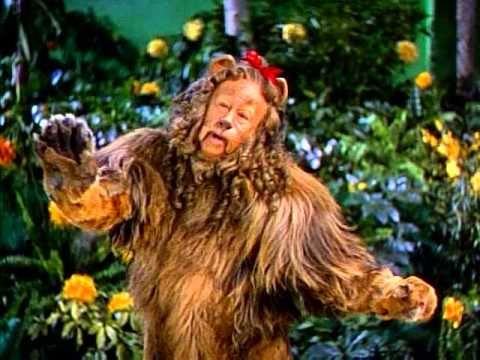 THE WIZARD OF OZ (1939) ~ The Cowardly Lion (Bert Lahr) ~ If I Were King of the Forest. Restored version. (3:28) [Video]