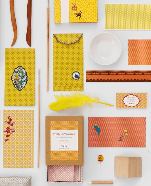 Stationery collection Pretty In Peranakan was inspired by the motifs found on Straits porcelain, from Jingdezhen in China
