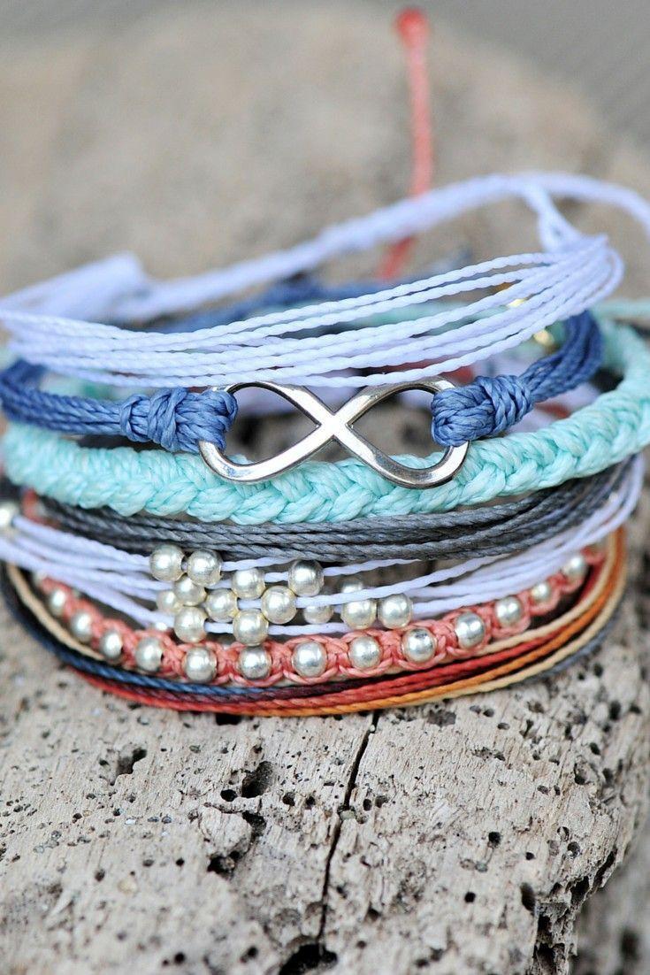 Stacked Bracelets ❤︎ L.O.V.E.