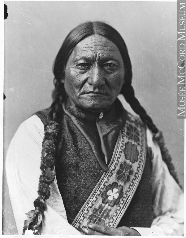 "This is the only pose in which Sitting Bull looks directly at the camera. Without the distractions of props, backdrop, or headdress, we are left to contemplate his calm, weathered face. William Notman & Son, ""Sitting Bull,"" Montreal, 1885, McCord Museum."