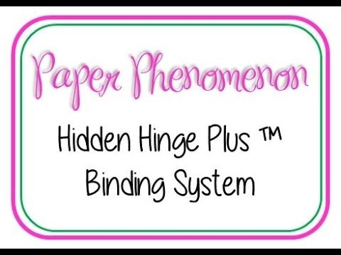 How to make the Hidden Hinge Plus TM Binding System - YouTube