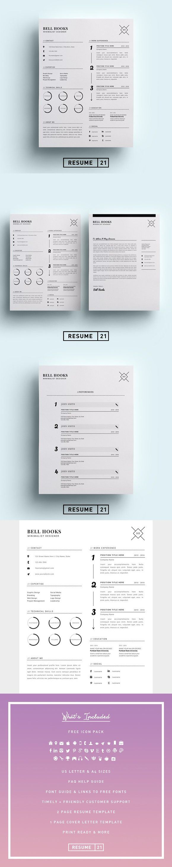 Minimal Designer Resume Template /CV. Nursing Resume. $15.00
