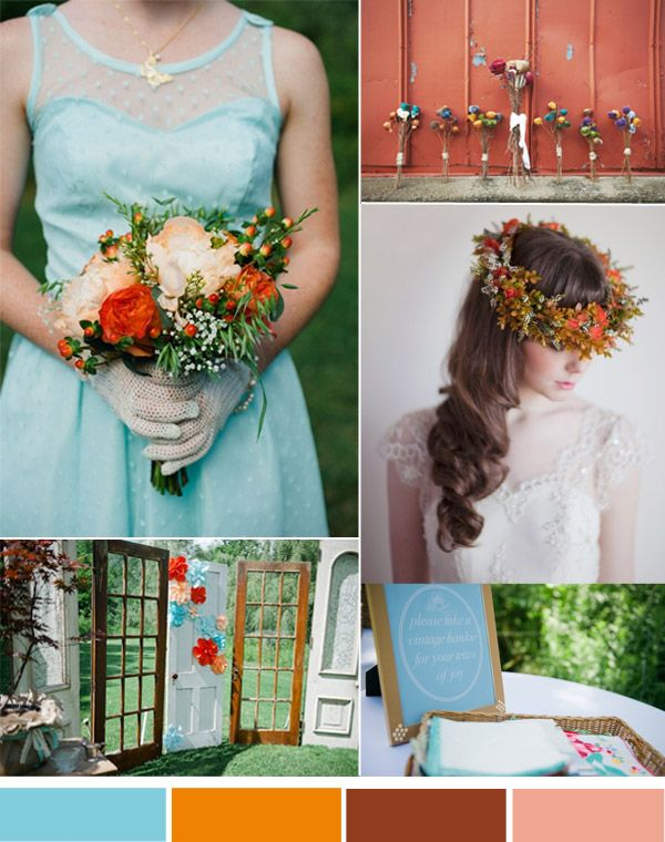 Vintage Fall Weddings—Top 3 Hot Wedding Color Inspiration | http://www.tulleandchantilly.com/blog/vintage-fall-weddings-top-3-hot-wedding-color-inspiration/