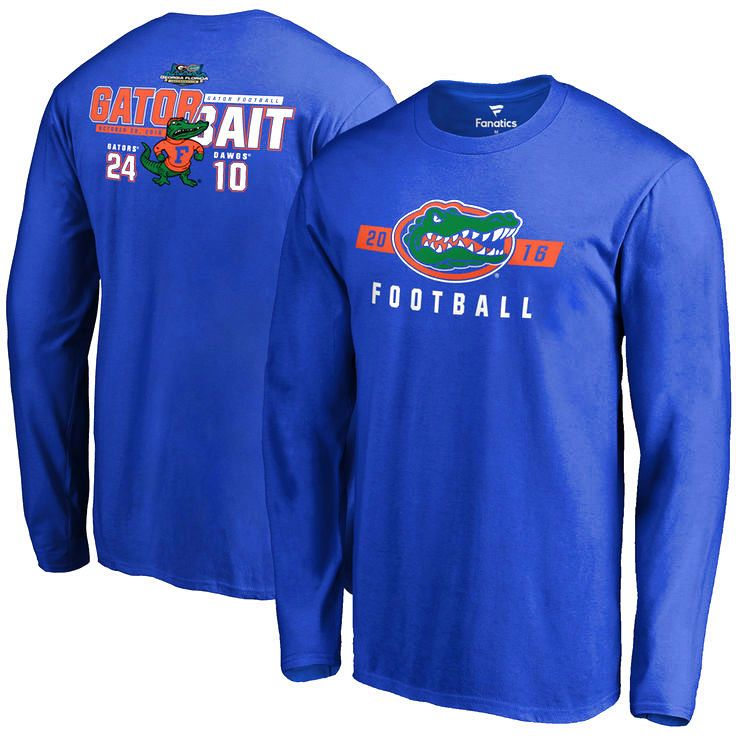 Florida Gators vs. Georgia Bulldogs 2016 Score Long Sleeve T-Shirt - Royal - $29.99