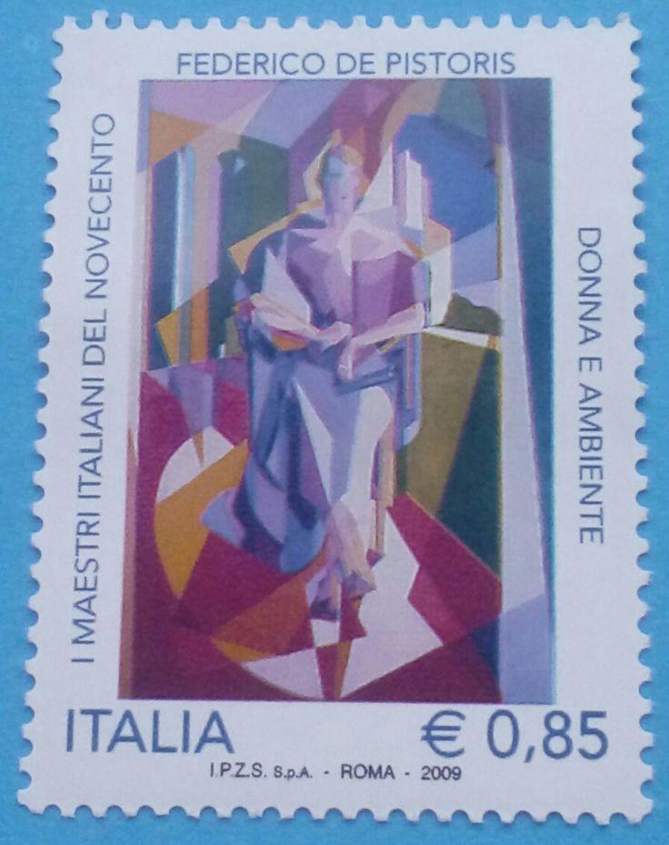 "Stamp 2009 ""Italian Master of 20th Century: Federico de Pistoris"", Italy"