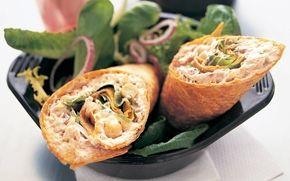 Wrap med tonfisk och kikärtor