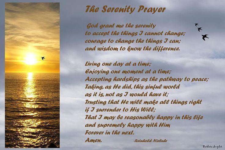 Printable Serenity Prayer Full Version | The Serenity Prayer Digital Art