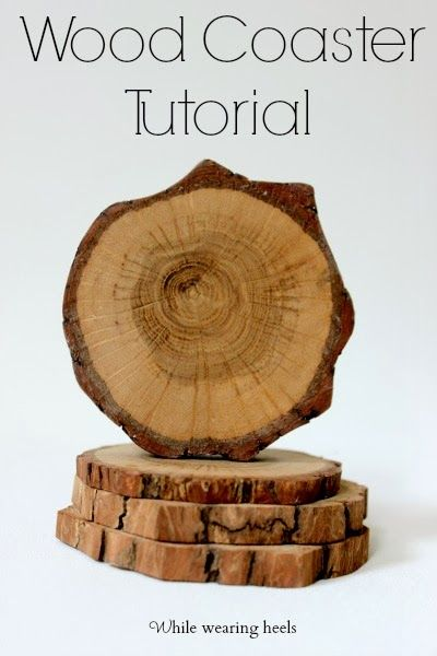 When you are married to a wood-aholic, it's just a matter of time that you find your coasters replaced by wood coasters...from a log.      ...