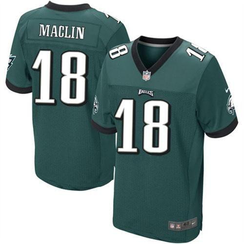 Nike NFL Philadelphia Eagles #18 Jeremy Maclin Elite Midnight Green Team Color Jersey Sale