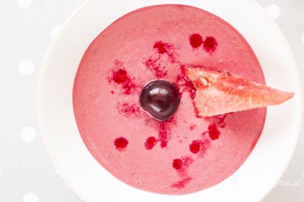 Cold watermelon and cherry soup / Gazpacho de sandía y cereza