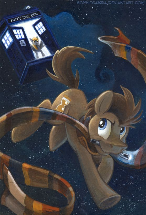 The Doctor by sophiecabra.deviantart.com on @deviantART    Derpy would be Rose, right? I could see that...