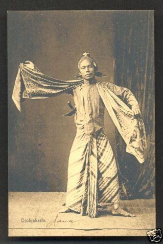 Djokjakarta Dancer Costume Java Indonesia ca 1910