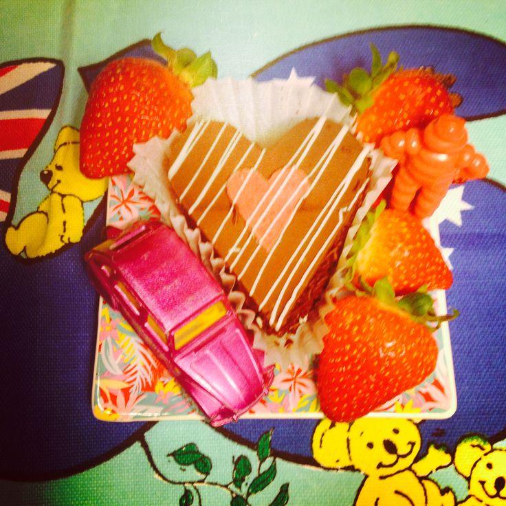 Happy Valentines Day ❤️ from Citroen Societe South Australia Inc. • Citroen 2CV • cake by Vili's of Adelaide • photo by riawati djuwita • strawberry picking at Hahndorf Sun 16 Feb 2014