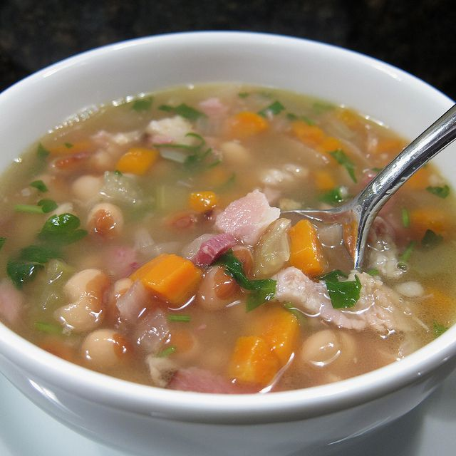 White Bean and Ham Soup in pressure cooker | pressure ...