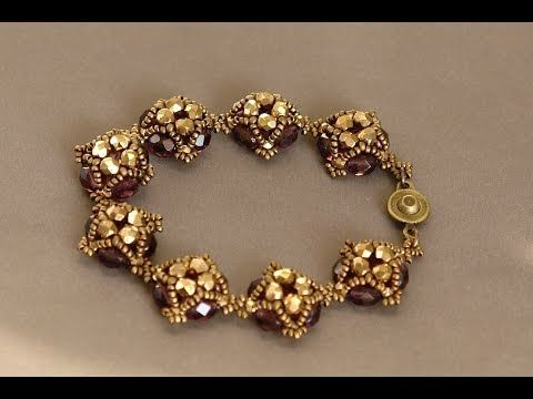 ▶ Sidonia's handmade jewelry - Little Dots Beaded Bracelet Tutorial - YouTube