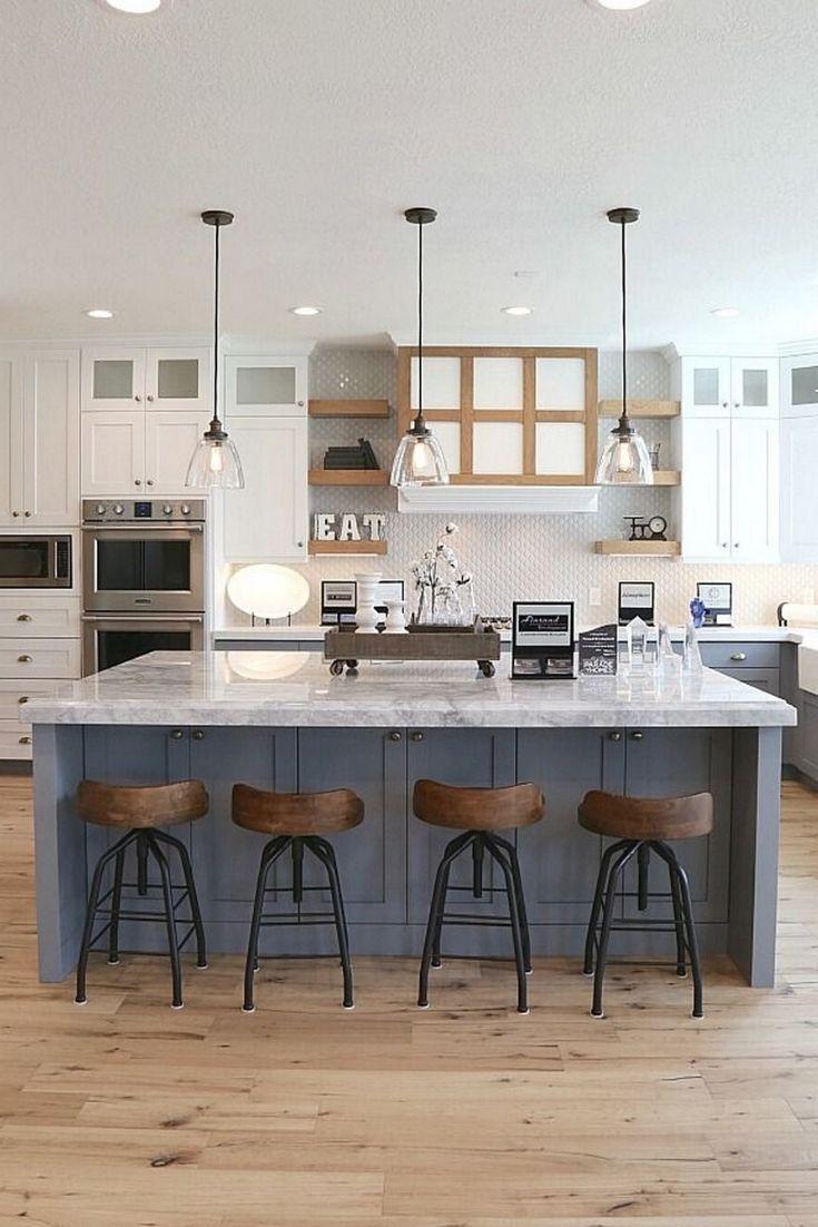 Modern Eat In Kitchen Ideas Ideas Of Decoration And Remodeling Eat In Kitchen Layout In 2020 Kitchen Layout Modern Farmhouse Kitchens Kitchen Remodel
