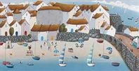 Baa Watch by Simon Clarke. Picture of the harbour in St Ives, Cornwall. Available to buy through Cornwall Art Galleries #artist #stives #simonclarke