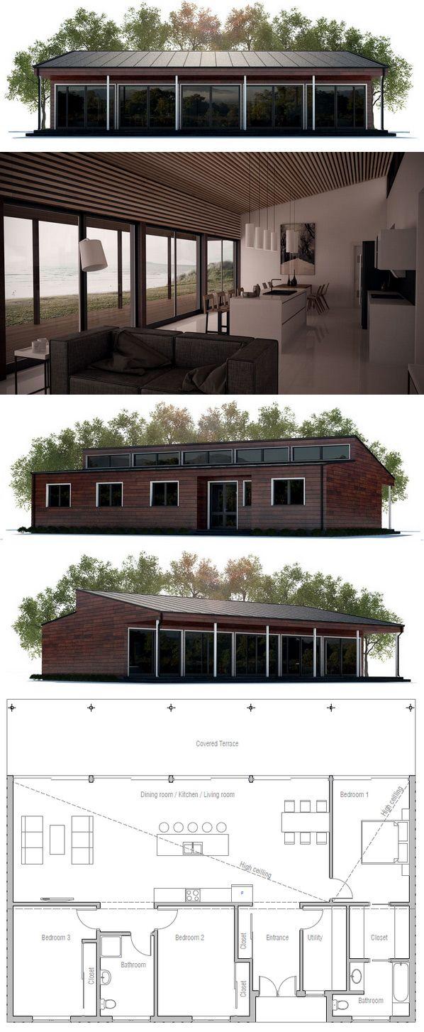 +++++ Floor area: 1636 sq ft Building area: 1851 sq ft Bedrooms: 3 Bathrooms: 2 Floors: 1 Height: 15′ 9″ Width: 55′ 9″ Depth: 33′ 10″ (I'd flip kitchen and D/R)