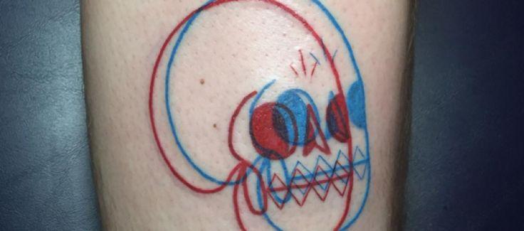 Tatuajes 3D rojo y azul | Winston Whale