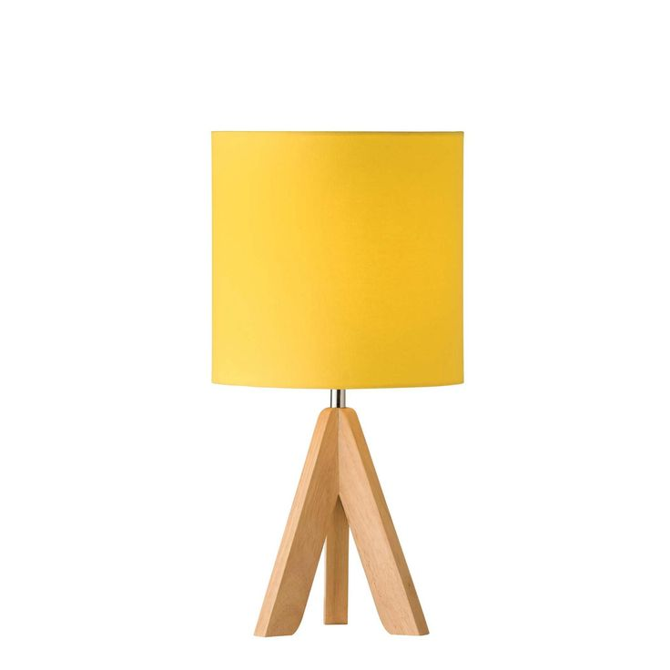 903 Trio Ash Timber Tripod Table Lamp