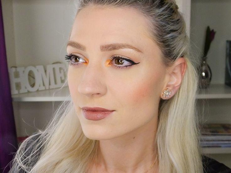 makeup for blonde, maquillaje naranja, orange makeup