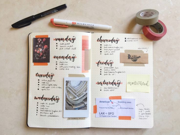"ashleystudies: "" [april 16, 2016] this is my spread from last week (april 3 to april 9). i ALWAYS!!! forgot to write in the actual dates!!!!!!! and i don't ever realize until after i've already taken. (Try Inspiration)"