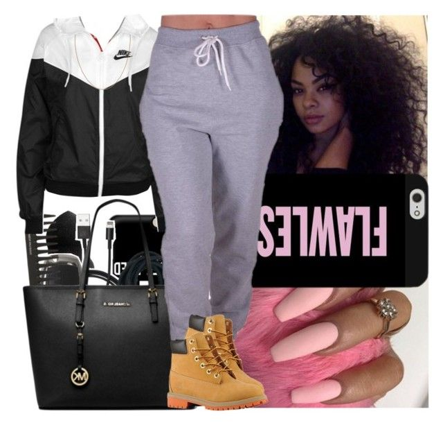 """Back2school #20"" by msixo ❤ liked on Polyvore featuring NIKE, CO and Timberland"