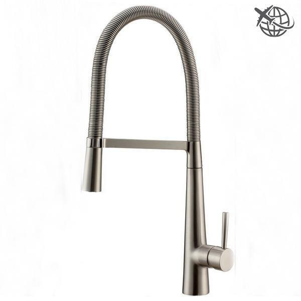Luxury Brushed Nickel Single Handle Kitchen Faucet Brushed
