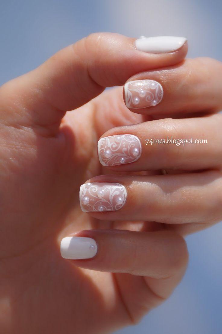 I think this would be a great idea for a bride  #nail #nails #nailart