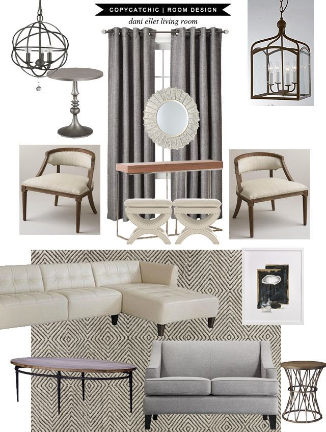 Copy Cat Chic Clients: Dani Ellet Living and Dining Room 040814